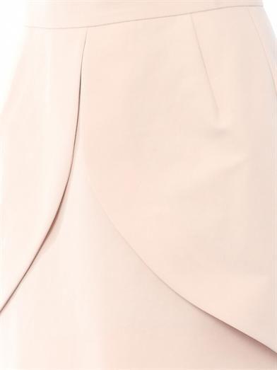 Balenciaga Leaf cotton-poplin mini skirt