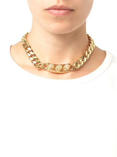 Balenciaga Arena-stud chain necklace