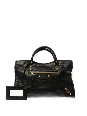 Giant City leather tote