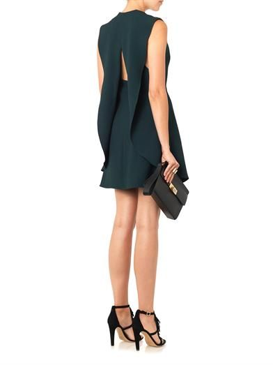 Balenciaga V-neck crepe dress