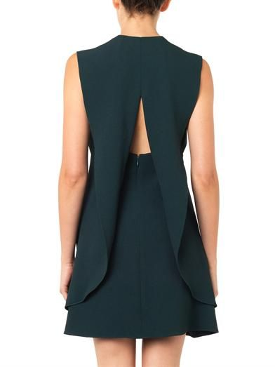 Balenciaga V-neck crepe dress