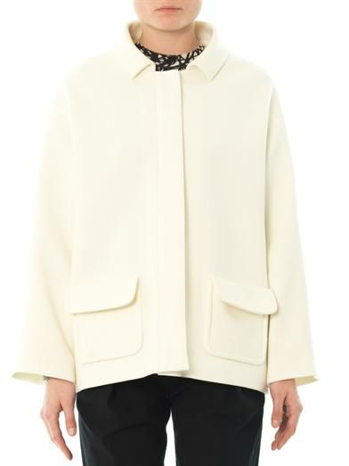 Balenciaga Point-collar wool jacket