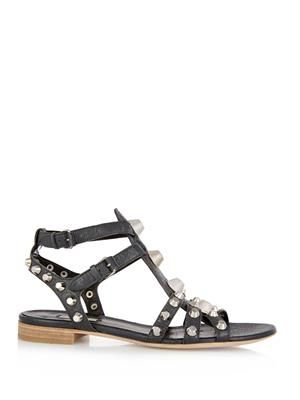 Arena stud leather sandals