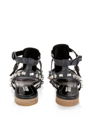 Balenciaga Arena studded leather sandals