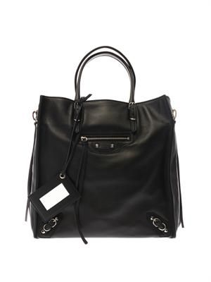 Papier A5 leather tote