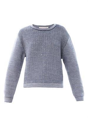Tweed wool-knit sweater