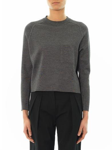Balenciaga High-neck cropped sweater