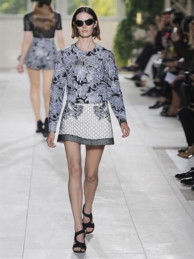 Balenciaga Textured-print knit sweater