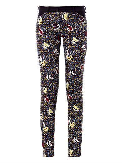 Balenciaga Paisley-print mid-rise skinny jeans