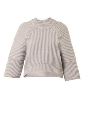 Wool and alpaca-blend cropped sweater