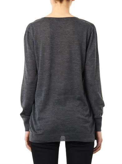 Balenciaga V-neck cashmere-knit sweater