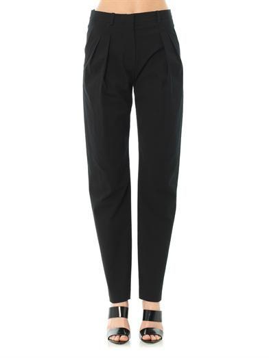 Balenciaga Tailored textured-crepe trousers