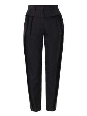 Pleat-front tailored trousers