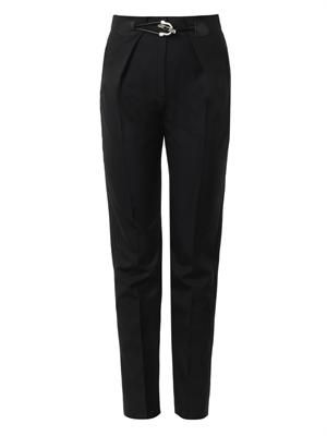 Toggle-detail tailored trousers