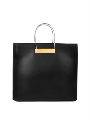 Cable large leather shopper bag