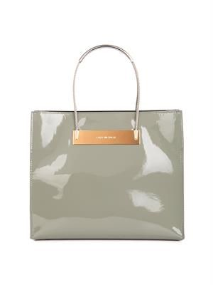 Cable small patent leather tote
