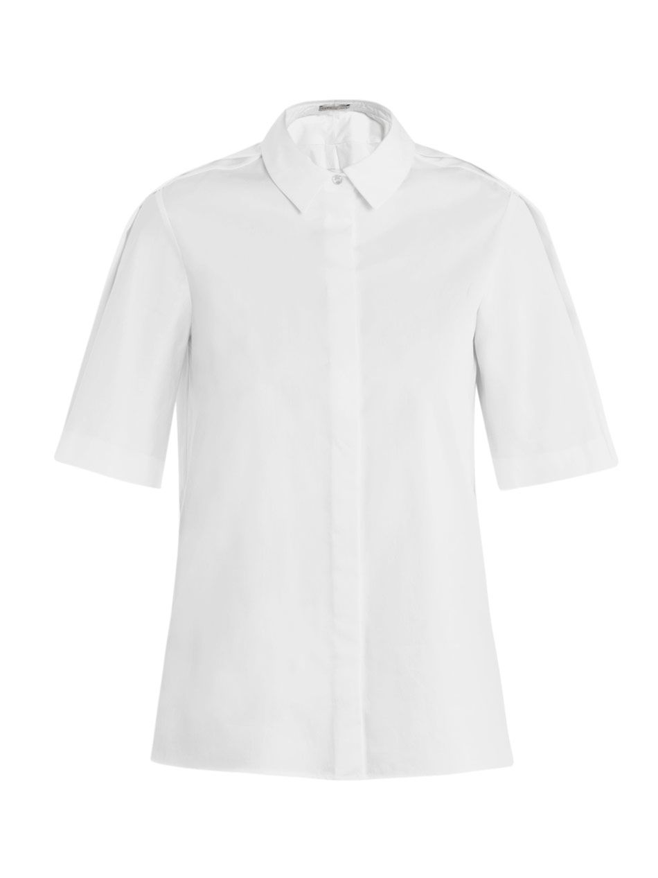 Summer button-through cotton shirt