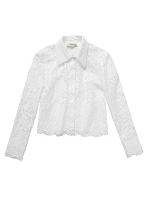 Dentelle resin lace shirt