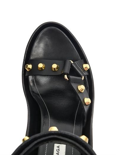 Balenciaga Arena stud leather wedge sandals