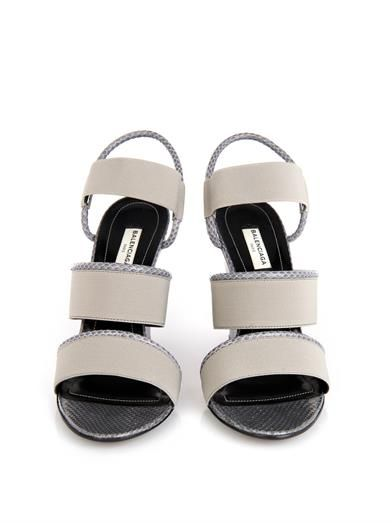 Balenciaga Glove leather and ayers wedge sandals