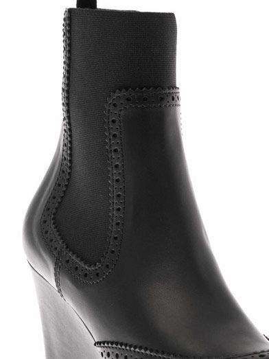 Balenciaga Brogue-detail leather wedge boots