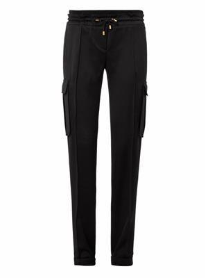 Cargo-pocket drawstring trousers