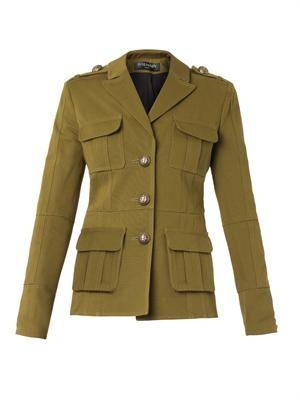 Gabardine military jacket