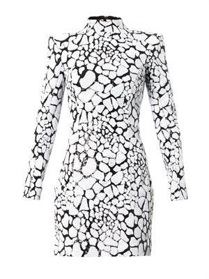 Embellished high-neck dress