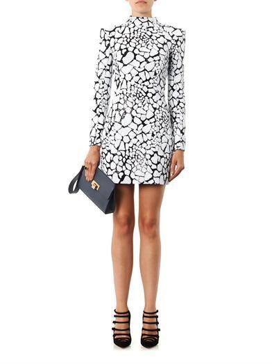Balmain Embellished high-neck dress