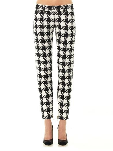 Balmain Houndstooth tapered-leg trousers