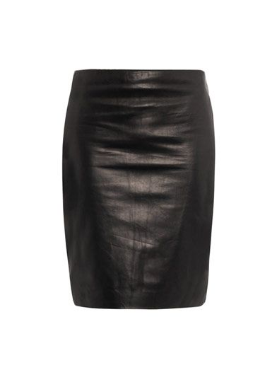 Diane Von Furstenberg Clover leather skirt