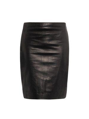 Clover leather skirt