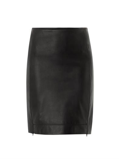 Diane Von Furstenberg Rita leather skirt