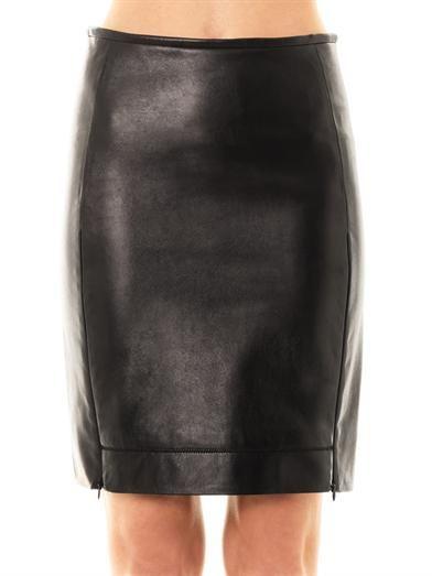 Diane Von Furstenberg Rita leather skirt