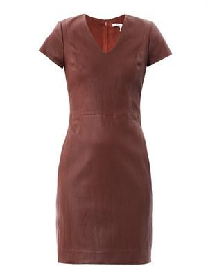 Teala leather dress
