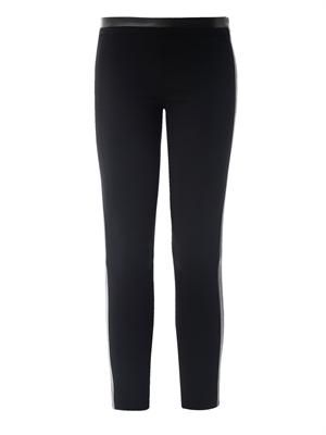 Lendra leather trimmed leggings