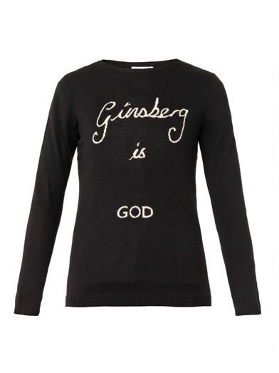 Bella Freud Ginsberg is God merino-wool sweater