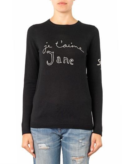 Bella Freud Je t'aime Jane wool-knit sweater