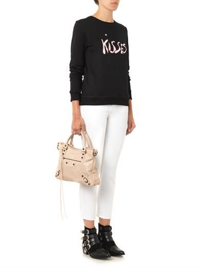 Bella Freud Kisses-print cotton sweatshirt
