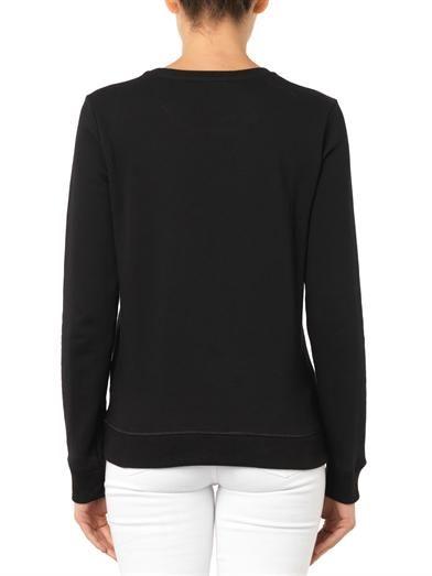 Bella Freud Kisses-print cotton sweatshirt