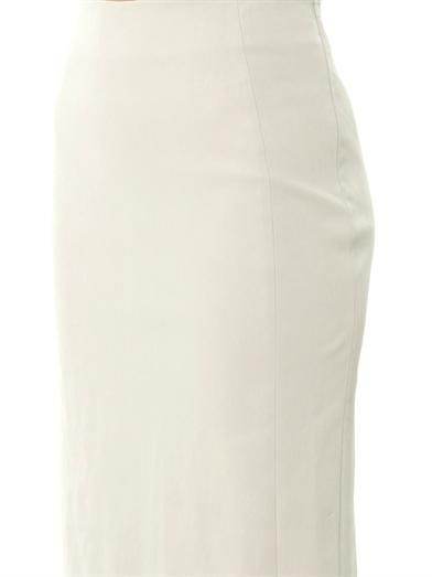 Diane Von Furstenberg Panel Marta leather skirt