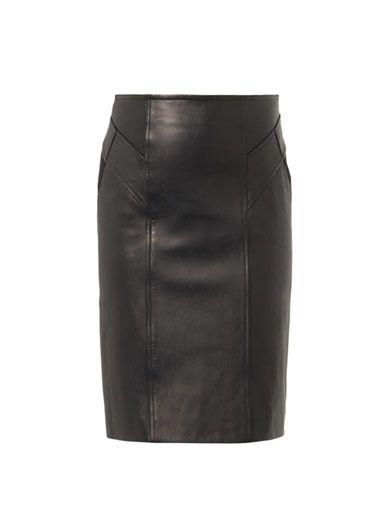 Diane Von Furstenberg Leather pencil skirt