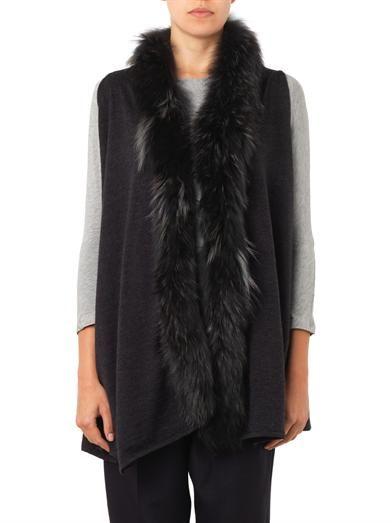 Diane Von Furstenberg Fur-trimmed wool cardigan
