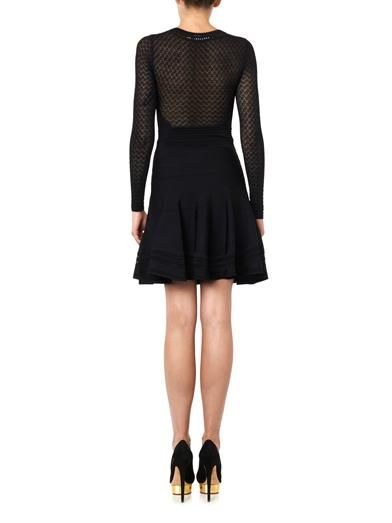 Diane Von Furstenberg Lace-top bodycon dress