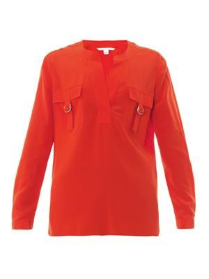Danielle silk-crepe blouse