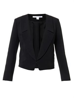 Tailored crepe jacket