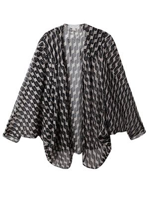 Printed silk cape