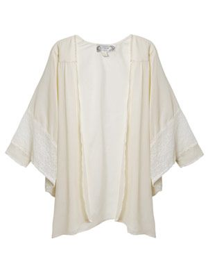 Lace-trim cape top