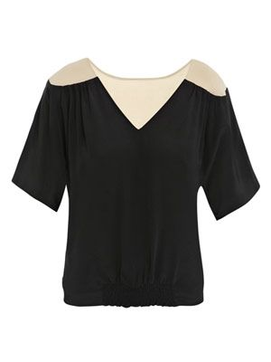 Illusion shoulder top