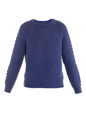 Honeycomb-knit sweater